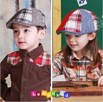 WallFree窩自在★秋冬氣質拼色質感造型百搭時尚兒童蓓蕾帽