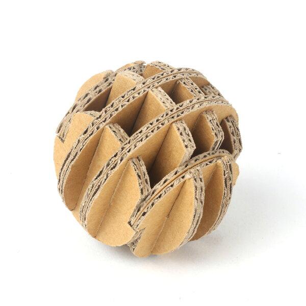順義號:DIY紙球(5入組)勞作繪畫療癒線稿贈品童玩瓦楞紙寵物玩具婚禮小物