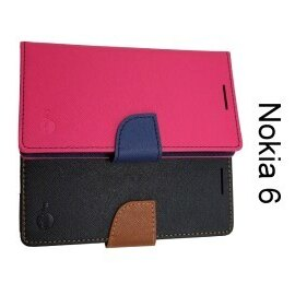 【MyStyle】撞色皮套Nokia6(5.5吋)