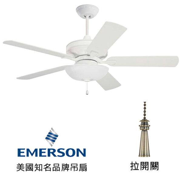 "[topfan]Emerson52""Bella52英吋吊扇(CF452SW_LK1500OMSW)砂白色(適用於110V電壓)"