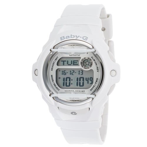 Baby-g Watch, Womens Digital White Resin Strap 46x43mm BG169R-7A 0