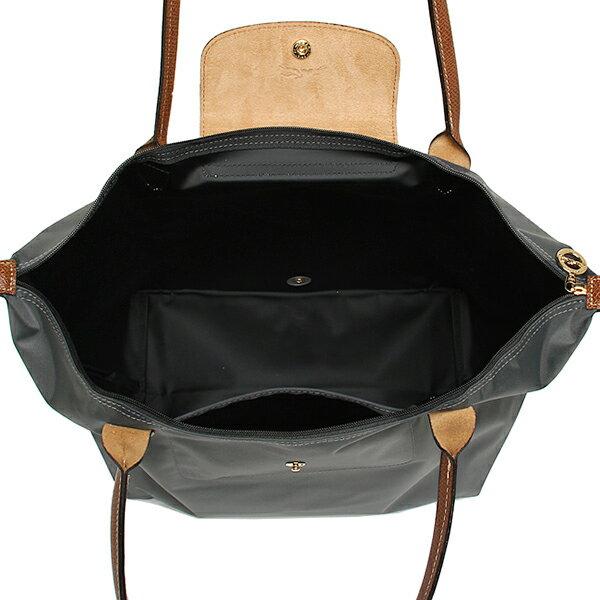 [長柄M號]國外Outlet代購正品 法國巴黎 Longchamp [1899-M號] 長柄 購物袋防水尼龍手提肩背水餃包 槍灰色 2