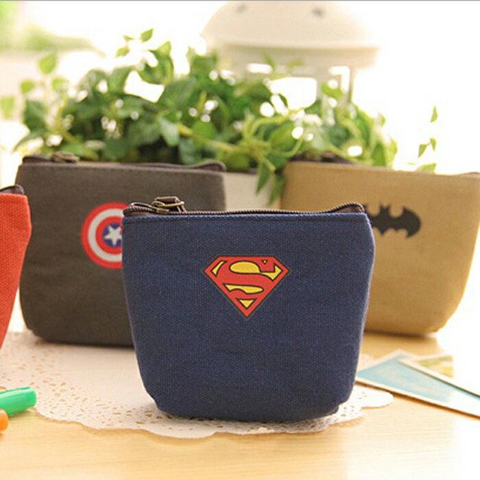 糖衣子輕鬆購【DZ0184】韓國創意個性超人美國隊長零錢包鑰匙包收納袋英雄聯盟帆布零錢包