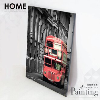 HomePlus 無框畫 雙層巴士 30x40cm IKEA 室內設計 油畫 相框 布置 創意 小物 雜貨 家居 裝潢 飾品 裝飾 壁貼