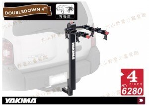 【露營趣】安坑特價 YAKIMA Doubledown 4-Bike 背後拖車型腳踏車攜車架 拖車式攜車架 拖車架 腳踏車架 後背式單車架