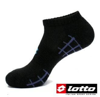 LOTTO 彈力機能氣墊踝襪 運動襪 (黑-LT6CMW8110) 兩雙入 [陽光樂活=]