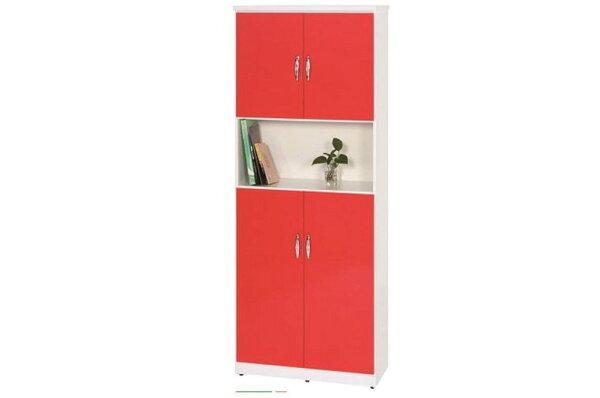 石川家居:【石川家居】883-02(紅白色)鞋櫃(CT-328)#訂製預購款式#環保塑鋼P無毒防霉易清潔