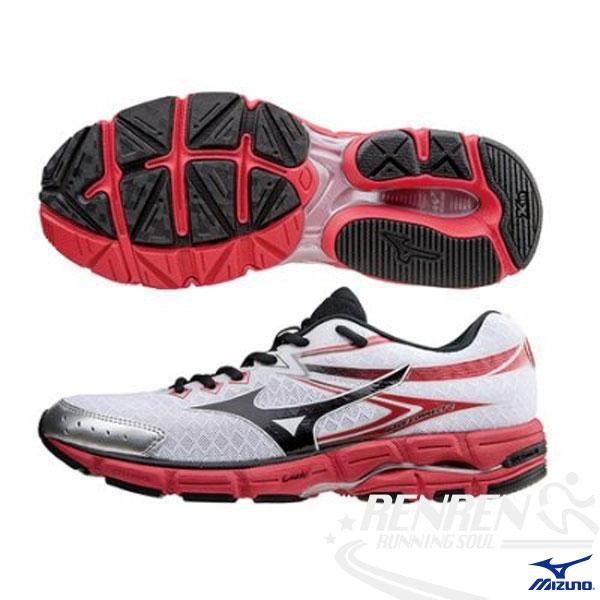 MIZUNO美津濃WAVECONNECT2男慢跑鞋(白*紅)高吸震材質