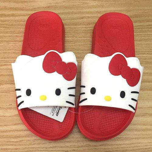 【真愛日本】 17091300001 造型室內拖鞋-大臉紅26 三麗鷗 Hello Kitty 凱蒂貓 室內拖 室外拖