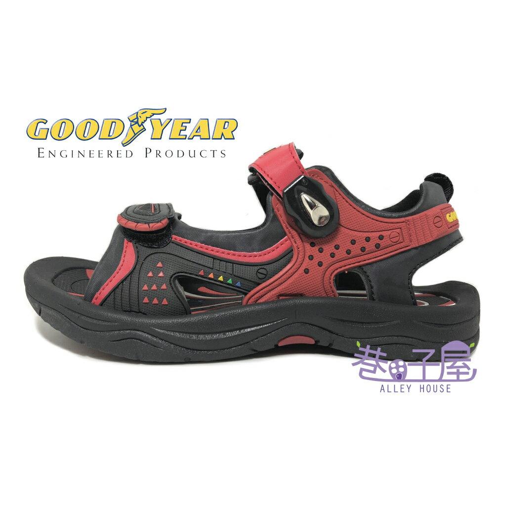 【巷子屋】GOODYEAR固特異 男款多功能磁扣戶外運動涼鞋 [63612] 紅 超值價$398