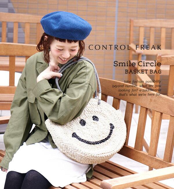 日本e-zakka / 圓型微笑編織手提包 / 21591-1801074 / 日本必買 代購 / 日本樂天直送(5900) 5