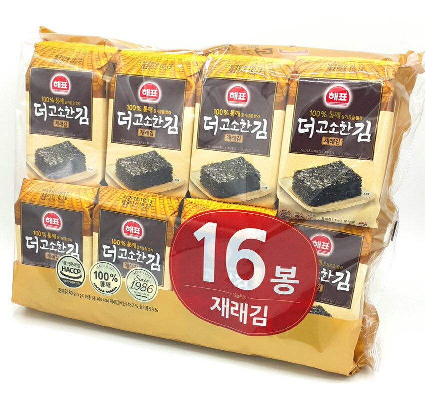 《Chara 微百貨》韓國 海苔 隨身包 SAJO 海牌 韓宇在來 京畿道 激安 泡菜 明太子 照燒  竹鹽 5