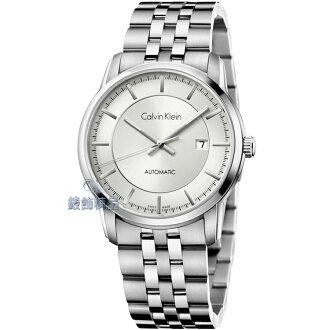 【錶飾精品】CK手錶 機械錶 藍寶石鏡面 日期 銀白面都會紳士鋼帶男錶 K5S34146 金宇彬代言全新原廠正品 生日 情人節 聖誕 禮物 禮品