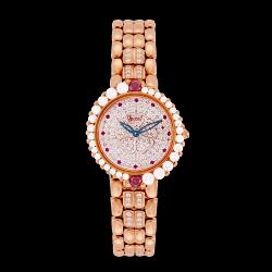 愛其華 Ogival 山茶花系列 (305-15.8DLR)繁星山茶花鑽石奢華時尚腕錶/32mm
