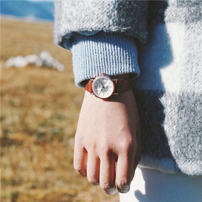 50%OFF SHOP【H021541WAH】手錶女生學生韓版簡約小錶盤小巧精緻復古皮帶閨蜜情侶手錶一對男