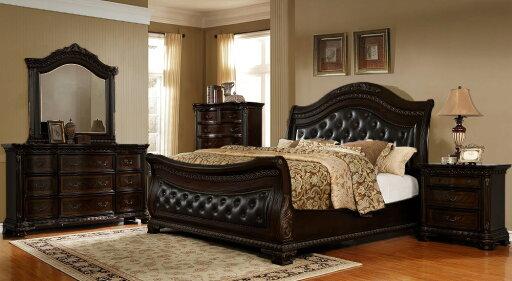B1508, Baldowald Dark Walnut 5 Pieces Queen Bedroom Set