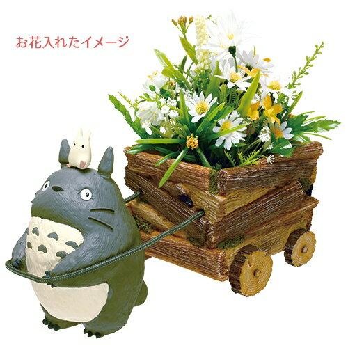 真愛日本:【真愛日本】16022600032花器-灰龍貓拉車龍貓TOTORO豆豆龍花器擺飾收納正品