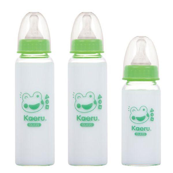 Kaeru哈皮蛙 - 標準口徑玻璃奶瓶組