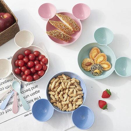 小麥雙耳餐盤 可愛造型 餐具 美觀 耐用 雙耳造型 兒童餐盤 盤子 【N500015】