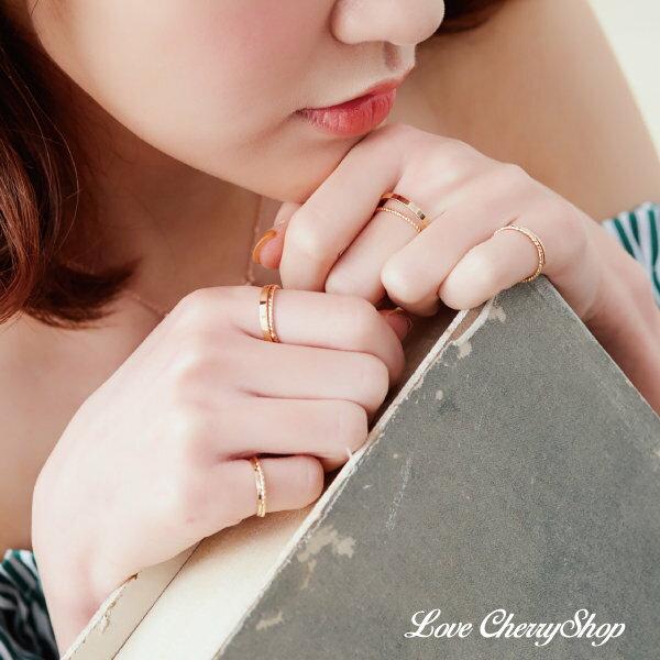 金色十件組合戒指【櫻桃飾品】【10585】