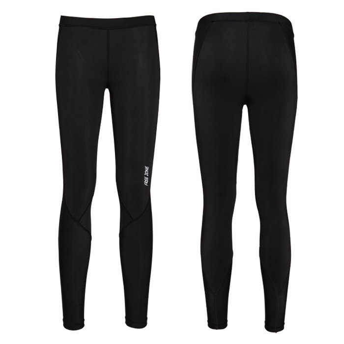 【FREEZONE 台灣】100型 機能壓力褲 運動褲 女款 黑色 (FZ100W-LONG)