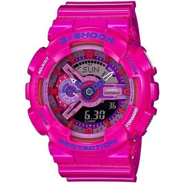 【時光鐘錶】G-SHOCK/CASIO GA-110MC-4A(GA-110MC-4ADR) 雙顯 防水 錶