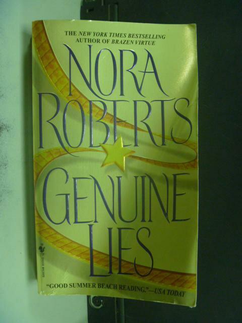 【書寶二手書T6/原文小說_KFJ】GENUINE LIES_Roberts, Nora