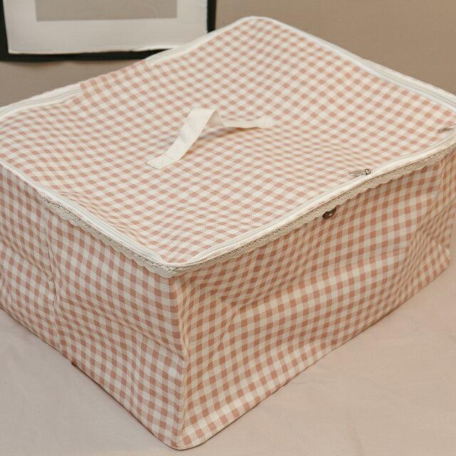 粉蘇格蘭衣物收納 50cmx45cmx25cm 可收納雜物 小物 1