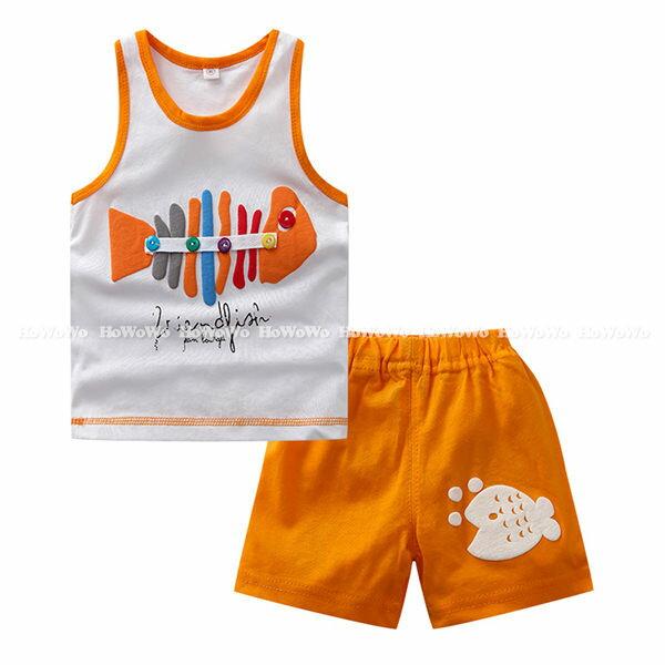 嬰幼兒短袖套裝 背心上衣T恤+短褲 童裝 AIY052-2 好娃娃