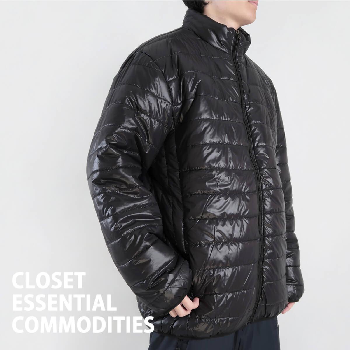加大尺碼舖棉保暖外套 超輕量夾克外套 騎士外套 擋風外套 立領休閒外套 鋪棉外套 藍色外套 黑色外套 WARM PADDED JACKET (321-A831-08)深藍色、(321-A831-21)黑色、(321-A831-22)灰色 6L 7L 8L (胸圍58~62英吋) [實體店面保障] sun-e 5