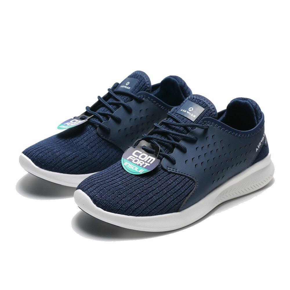 AIRWALK 深藍 編織 慢跑鞋 男女 (布魯克林) A752255680