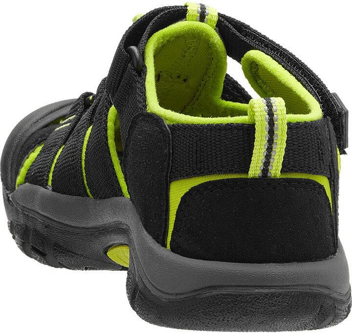 ├登山樂┤美國KEEN NewPort H2兒童護趾涼鞋 黑 / 螢光綠 #1009965 1