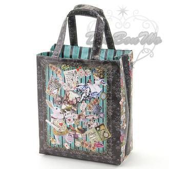 製歐式愛麗絲兔手提袋便當袋防水984138海渡