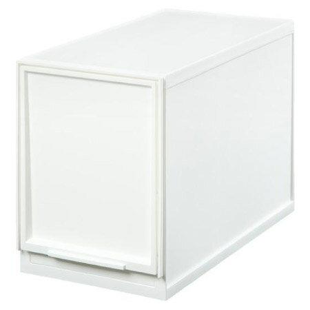 寬19cm多功能抽屜收納盒白色L半格型NITORI宜得利家居