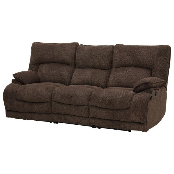 ◎布質3人用電動可躺式沙發 HIT 804 DBR NITORI宜得利家居 7