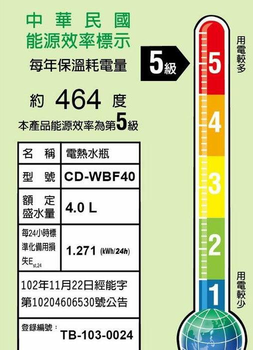 ★象印ZOJIRUSHI★ 4L微電腦電動熱水瓶 (CD-WBF40) 6