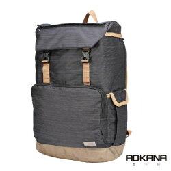 【AOKANA奧卡納】電腦後背包 超輕量 防潑水 商務後背包(神秘黑68-092)【威奇包仔通】