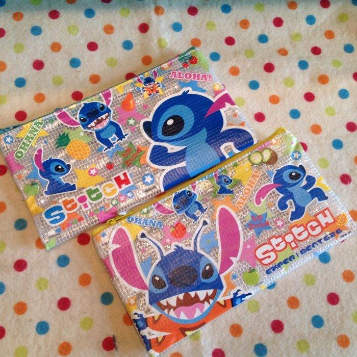 =優生活=台灣迪士尼授權星際寶貝 史迪奇醜丫頭長型網袋 現金袋 收納袋 文件袋 拉鍊袋