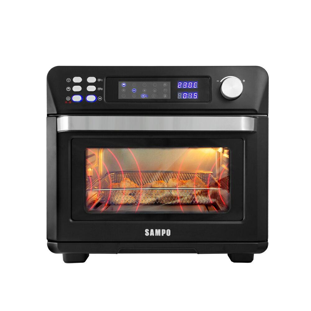 [福利品]【SAMPO聲寶】24L微電腦多功能氣炸烤箱(KZ-AA24B)