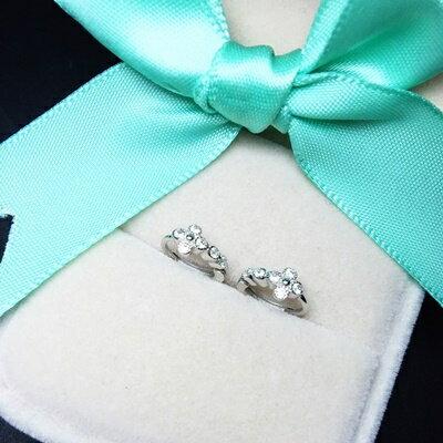 ~925純銀耳環鑲鑽耳飾~典雅 耀眼迷人生日情人節 女飾品73ia71~ ~~米蘭 ~