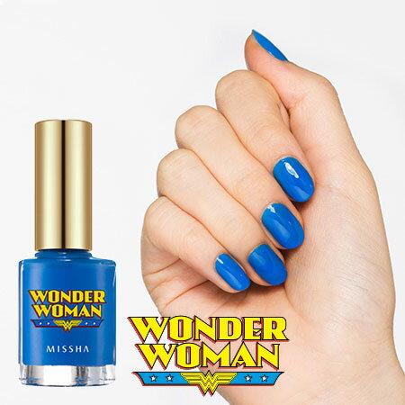 韓國 MISSHA WONDER WOMAN 絢爛凝光指彩釉 8ml 寶藍色 指甲油 神奇女俠 神力女超人【B061263】