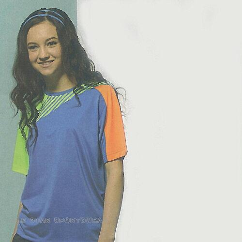 MILD STAR 男女吸濕排汗短T恤-寶藍#AS700305