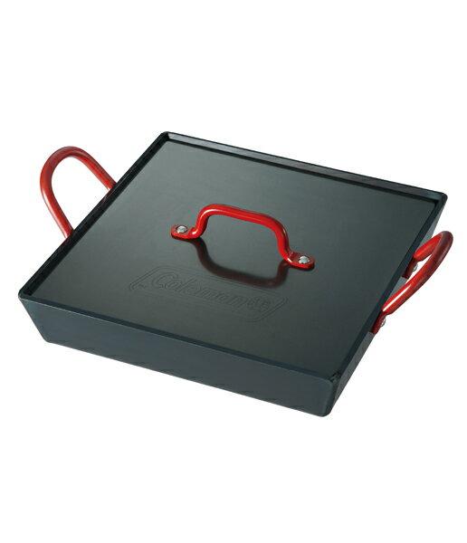 【露營趣】中和 美國 Coleman 黑鐵迷你煎盤 煎鍋 鐵板燒 適雙口爐 瓦斯爐 烤肉架 焚火台 CM-9483J