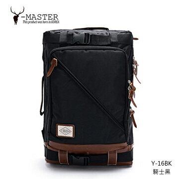 【愛瘋潮】正韓 韓國直送 Y-MASTER 城市探險-15.5吋筆電相機後背包 Y-16BK (騎士黑)