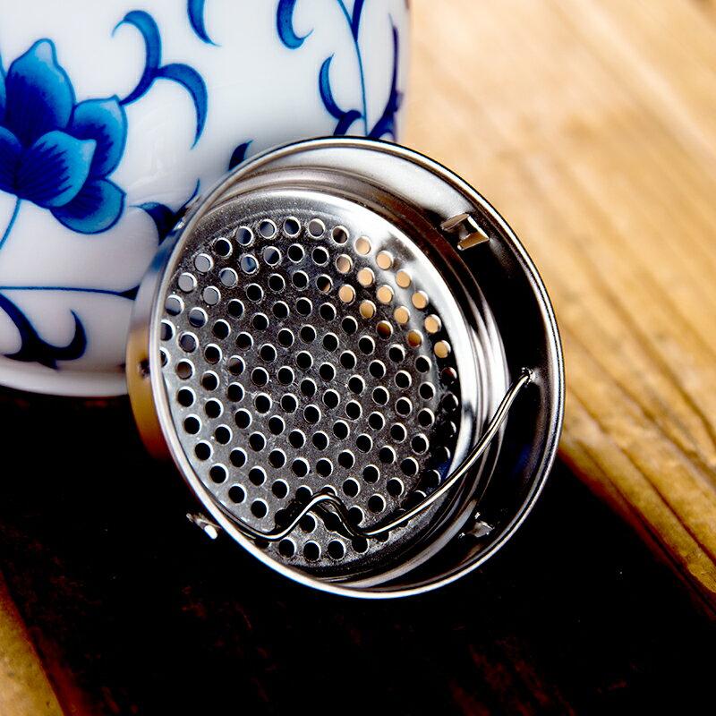 景德鎮青花陶瓷保溫杯雙層內膽陶茶杯過濾泡茶創意男女旅行禮品杯