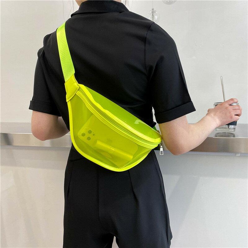 上新腰包2021春季ins透明包包洋氣時尚PVC簡約果凍包潮新款胸包