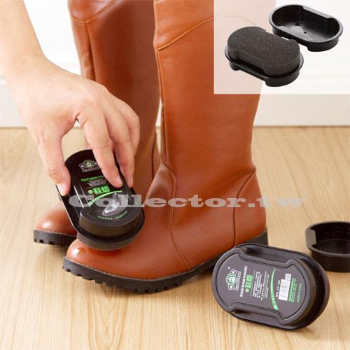 【F17033101】雙面一擦即亮無色鞋蠟海綿刷 真皮保養護理油 擦皮鞋海綿