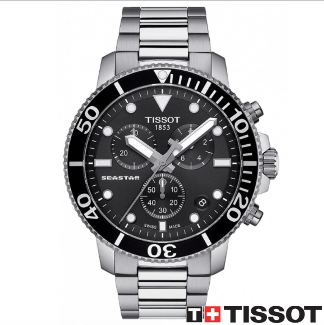 TISSOT 天梭錶 SEASTAR 1000海洋之星300米潛水石英款 T1204171105100黑 / 46mm 0