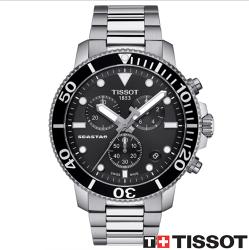 TISSOT 天梭錶 SEASTAR 1000海洋之星300米潛水石英款 T1204171105100黑/46mm