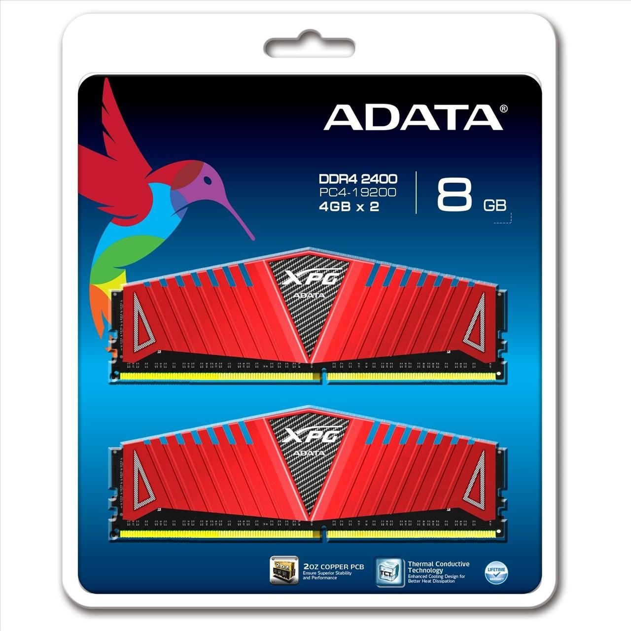 *╯新風尚潮流╭*威剛 XPG Z1 超頻 8G DDR4-2400 16-16-16-39 終保 AX4U2400W4G16-DRZ